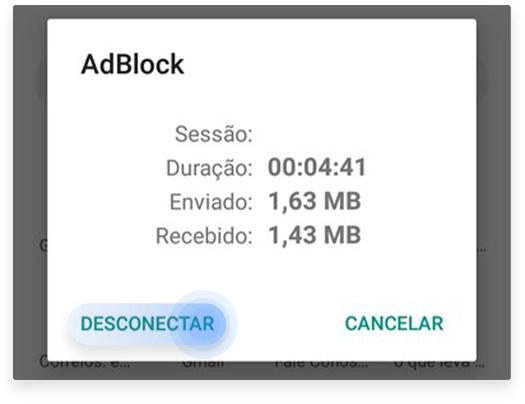 como desativar o AdBlock do celular: passo nº4